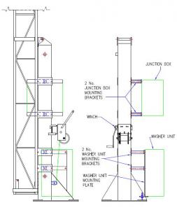 Mounting brackets - tower 2